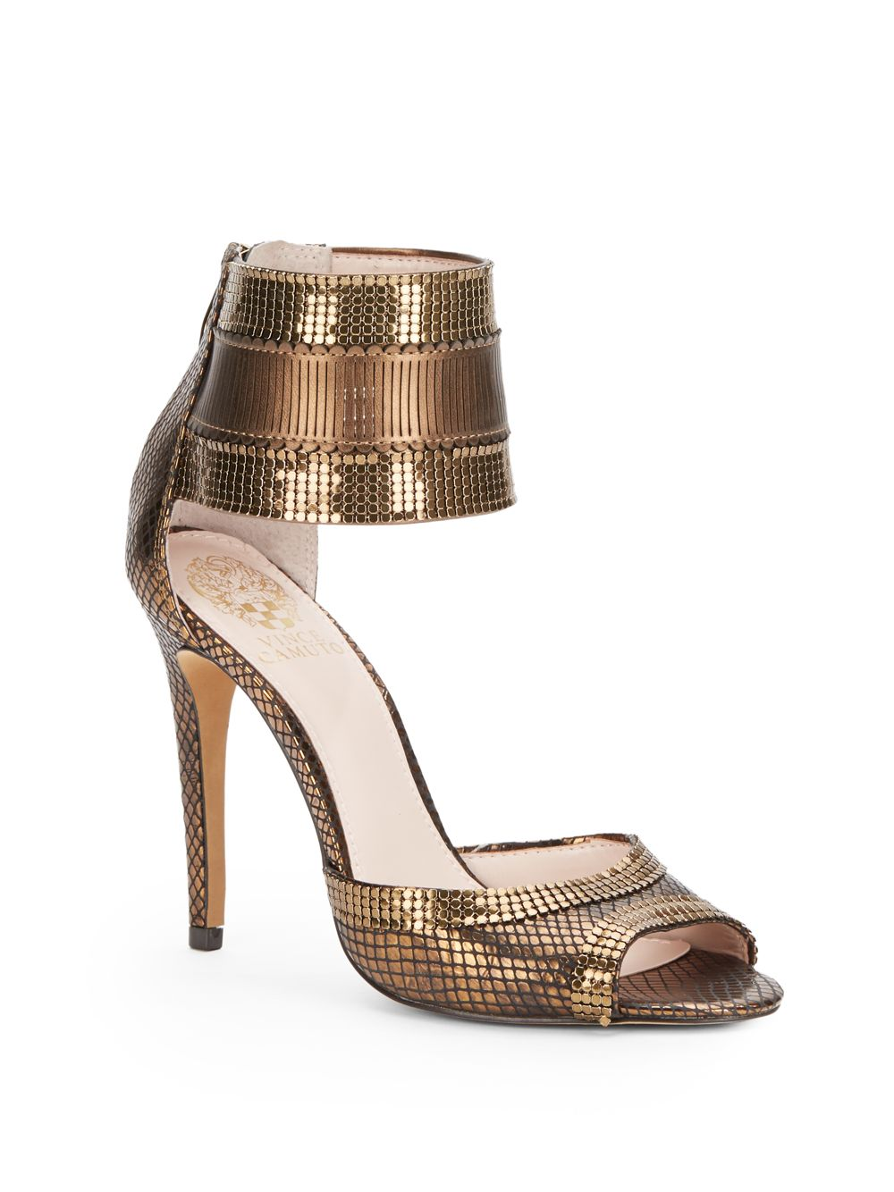 Lyst Vince Camuto Latese Metallic Leather Sandals In