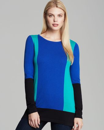 Vince Camuto Color Block Sweater - Lyst