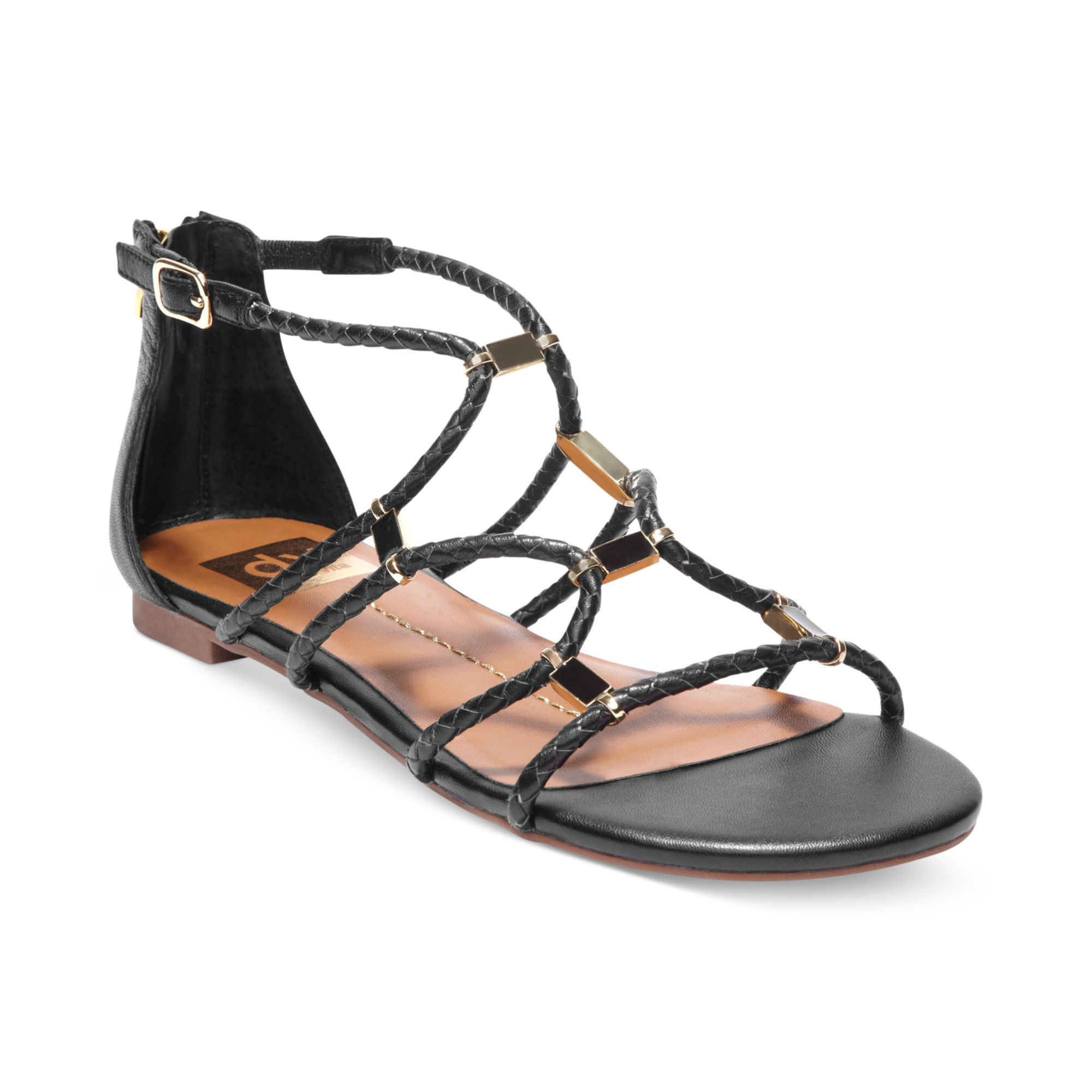 94aba238e2e42a Lyst - Dolce Vita Dv By Agate Strappy Flat Sandals in Black