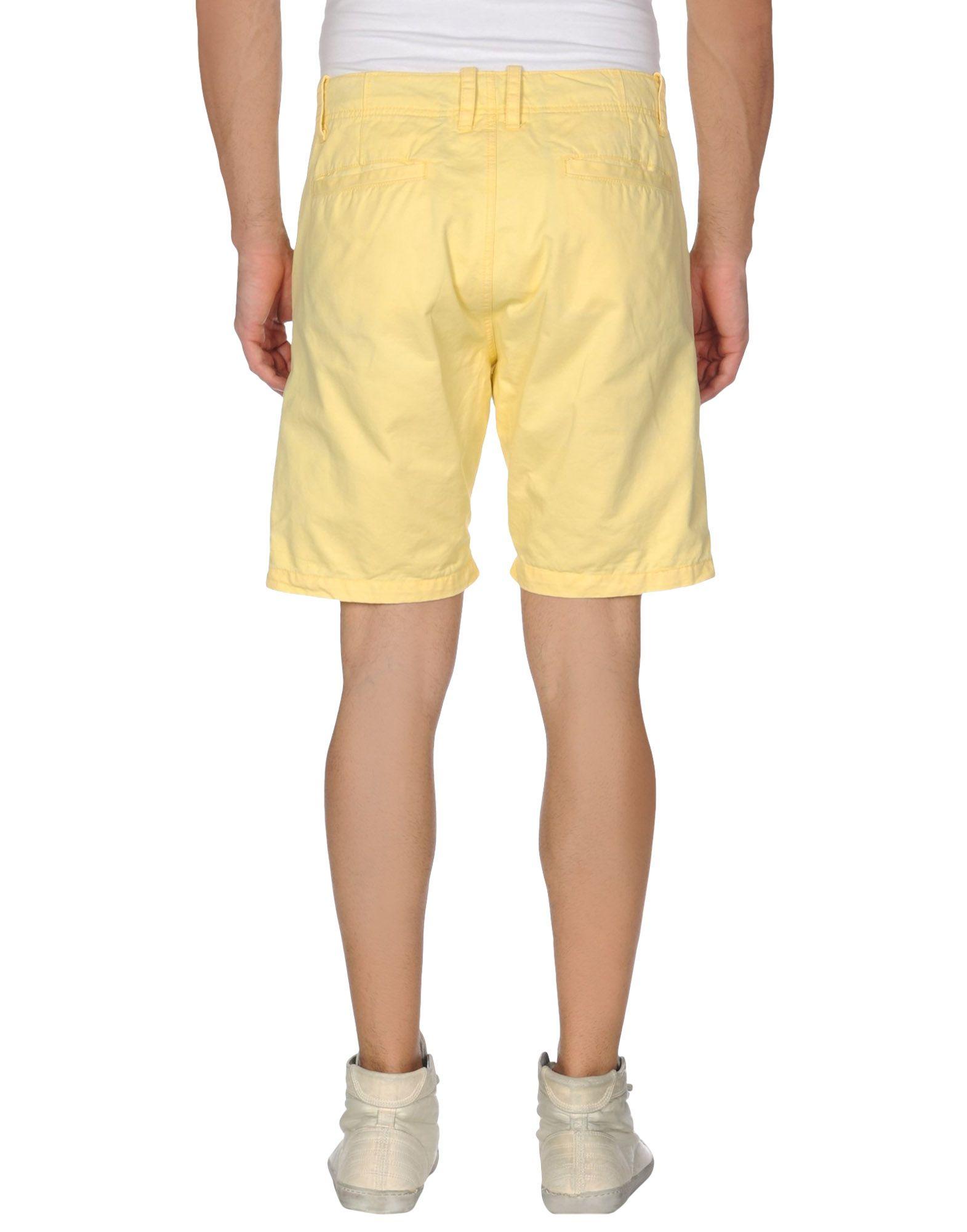 jack jones bermuda shorts in yellow for men lyst. Black Bedroom Furniture Sets. Home Design Ideas