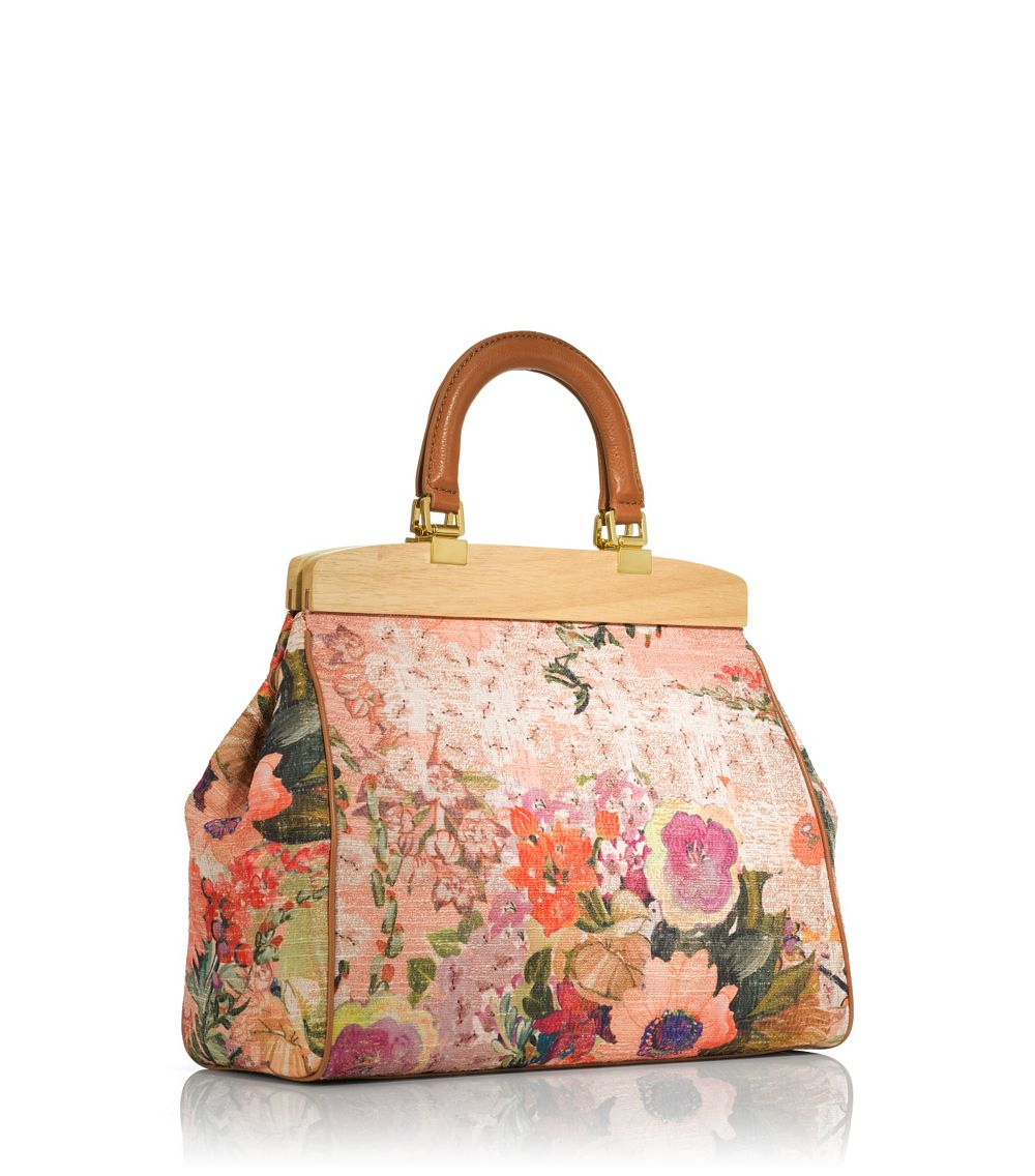 0c3ed325cd41 Lyst - Tory Burch Floral Attersee Satchel