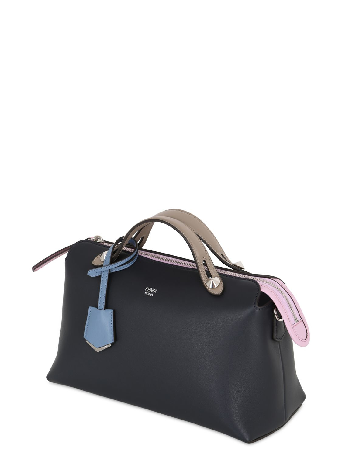 c93b1f95f0 Lyst - Fendi Small By The Way Leather Top Handle Bag in Blue