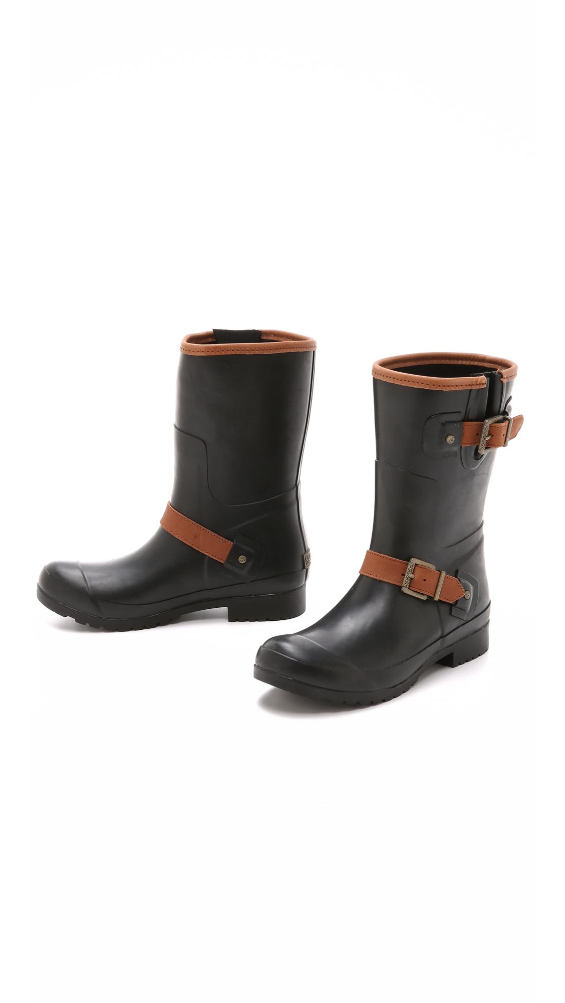 Sperry Top Sider Walker Fog Rain Boots Black In Black Lyst