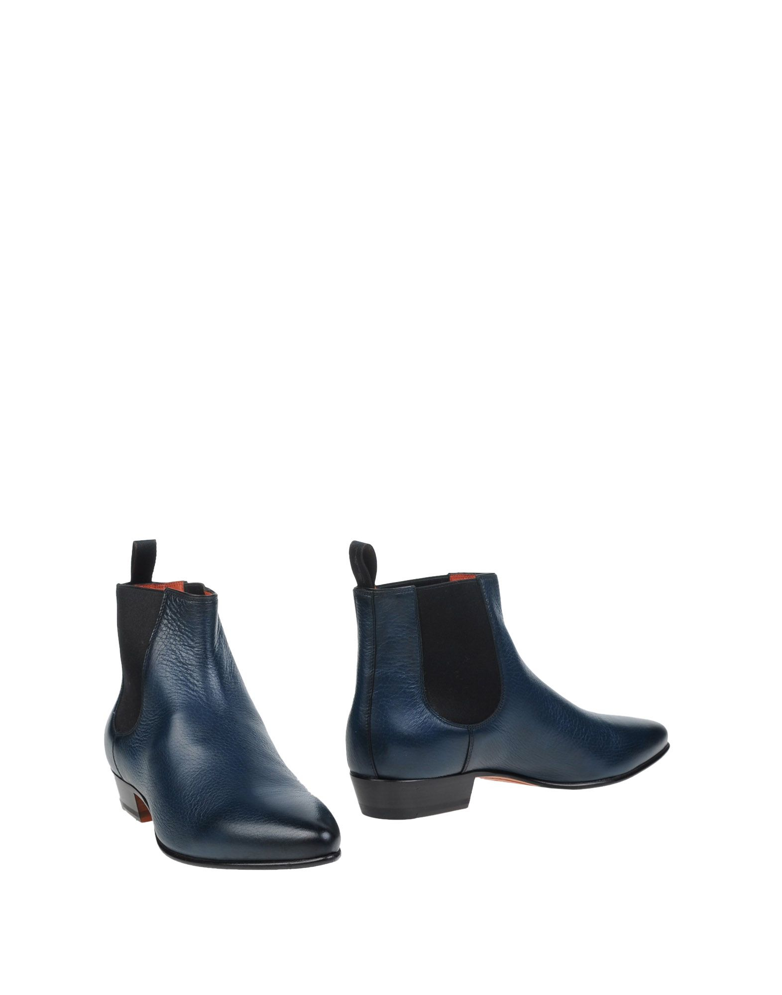 santoni ankle boots in blue lyst