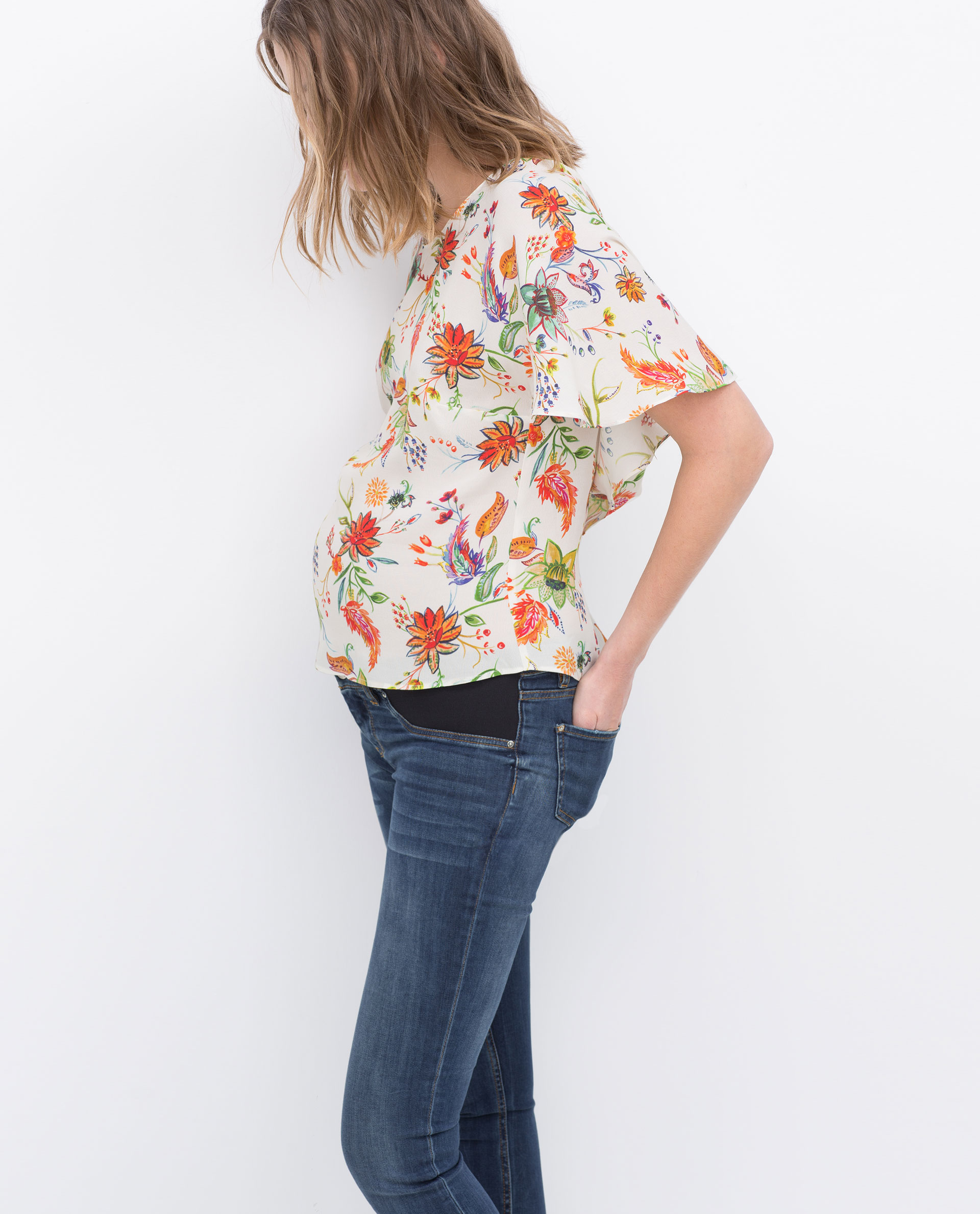 Zara Skinny Maternity Jeans in Blue | Lyst