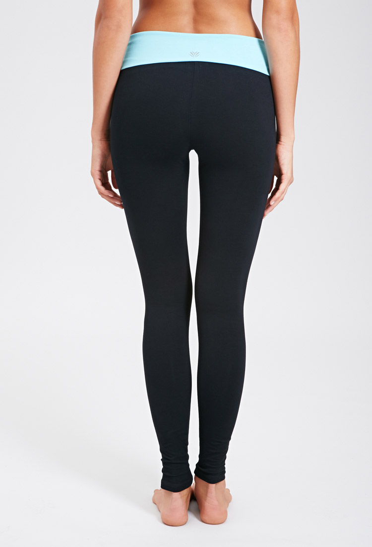 Fold Over Yoga Capris - The Else