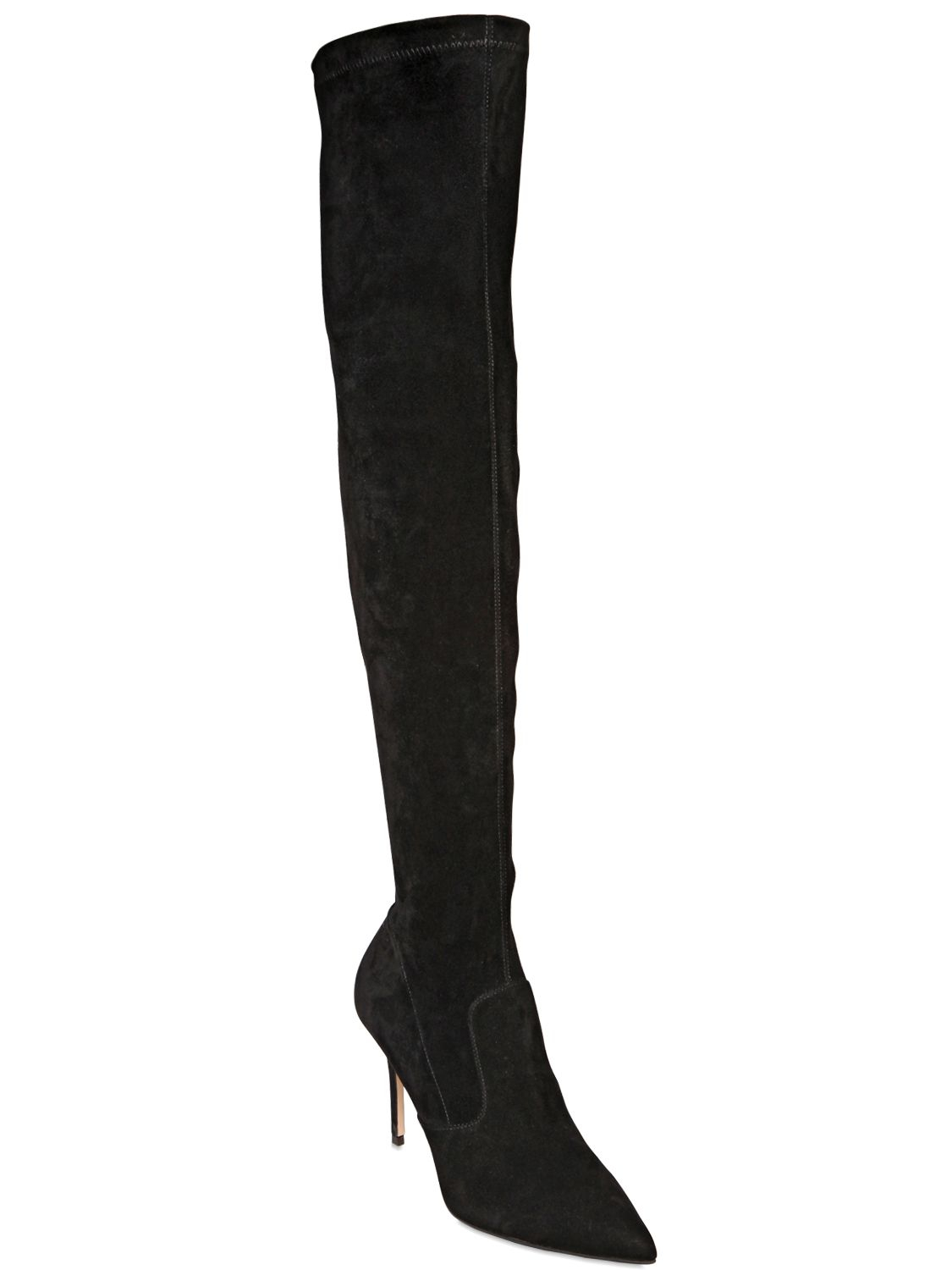 Lyst Le Silla 80mm Stretch Suede Over The Knee Boots In