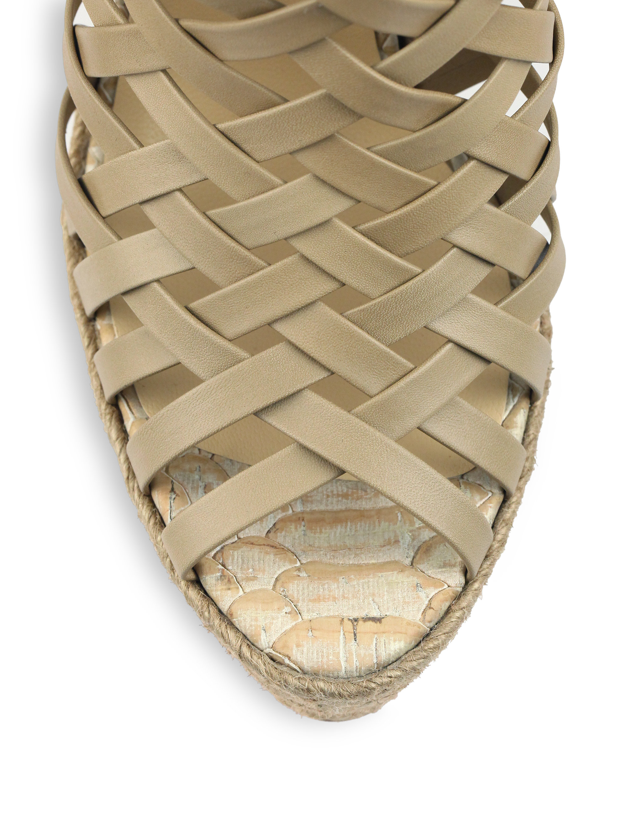 mens white christian louboutin - christian louboutin embossed cork wedge sandals | cosmetics ...