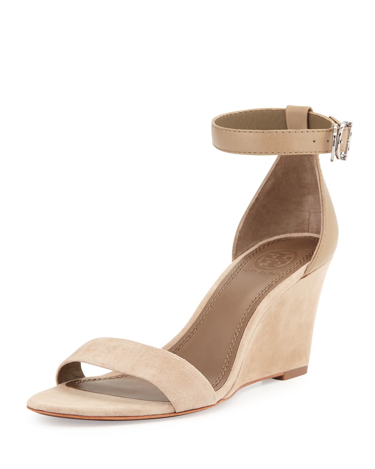 0f647793f091e5 Lyst - Tory Burch Thames Suede Wedges in Brown
