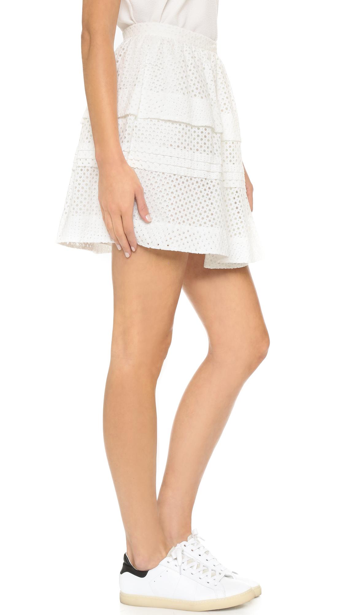 29921627d Lyst - IRO Gaetane Skirt in White