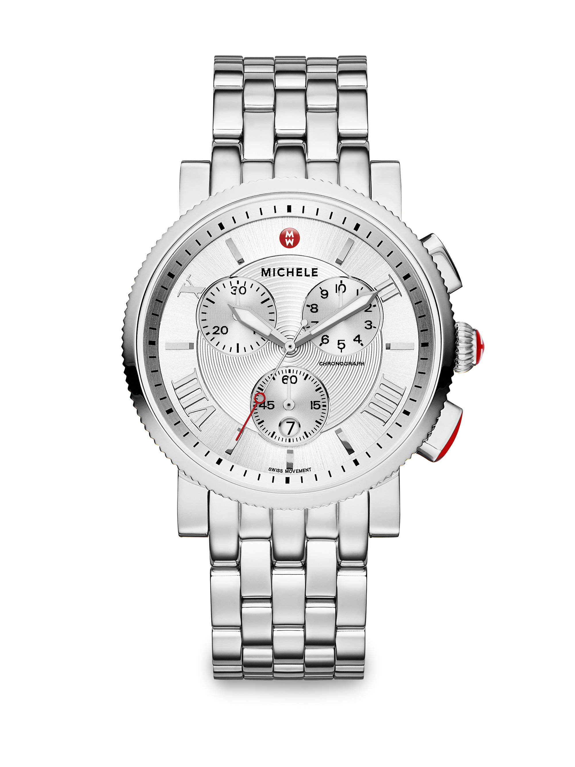 Michele Sport Sail 20 Stainless Steel Large Chronograph