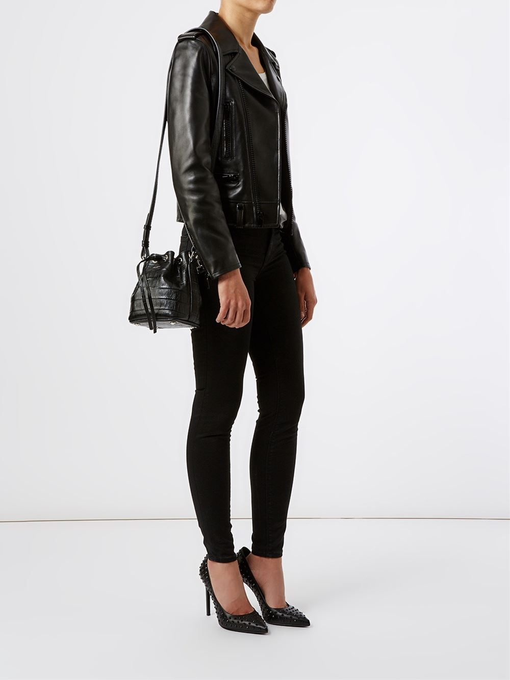 Emmanuelle Small Suede Fringe Bag, Black