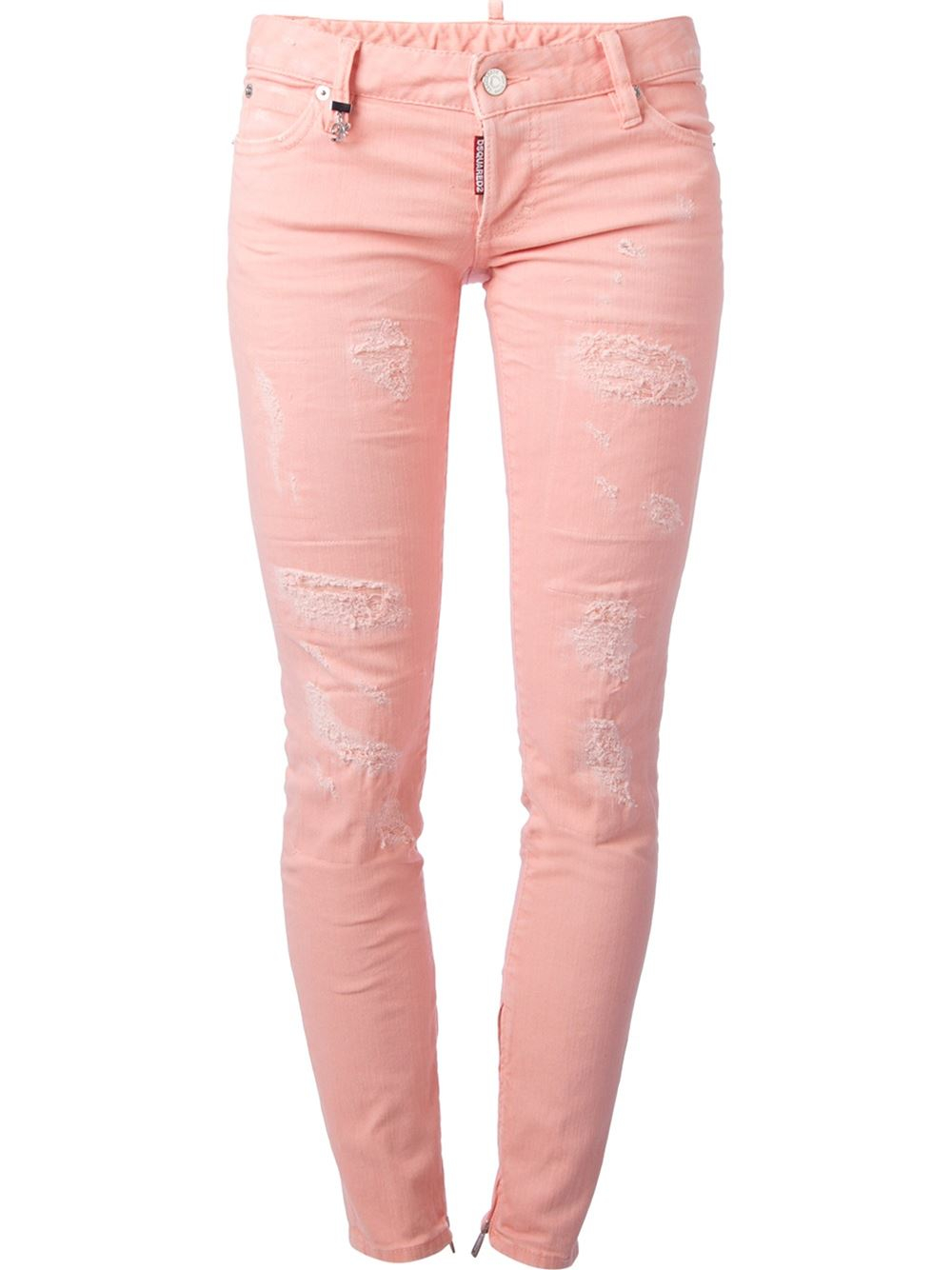 Pink Skinny Jeans - Jeans Am