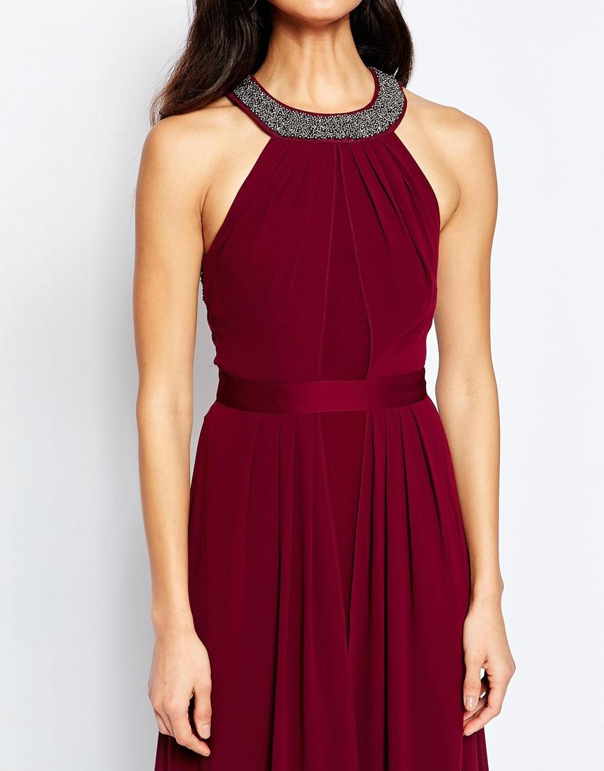 Warehouse maxi dress halter neck