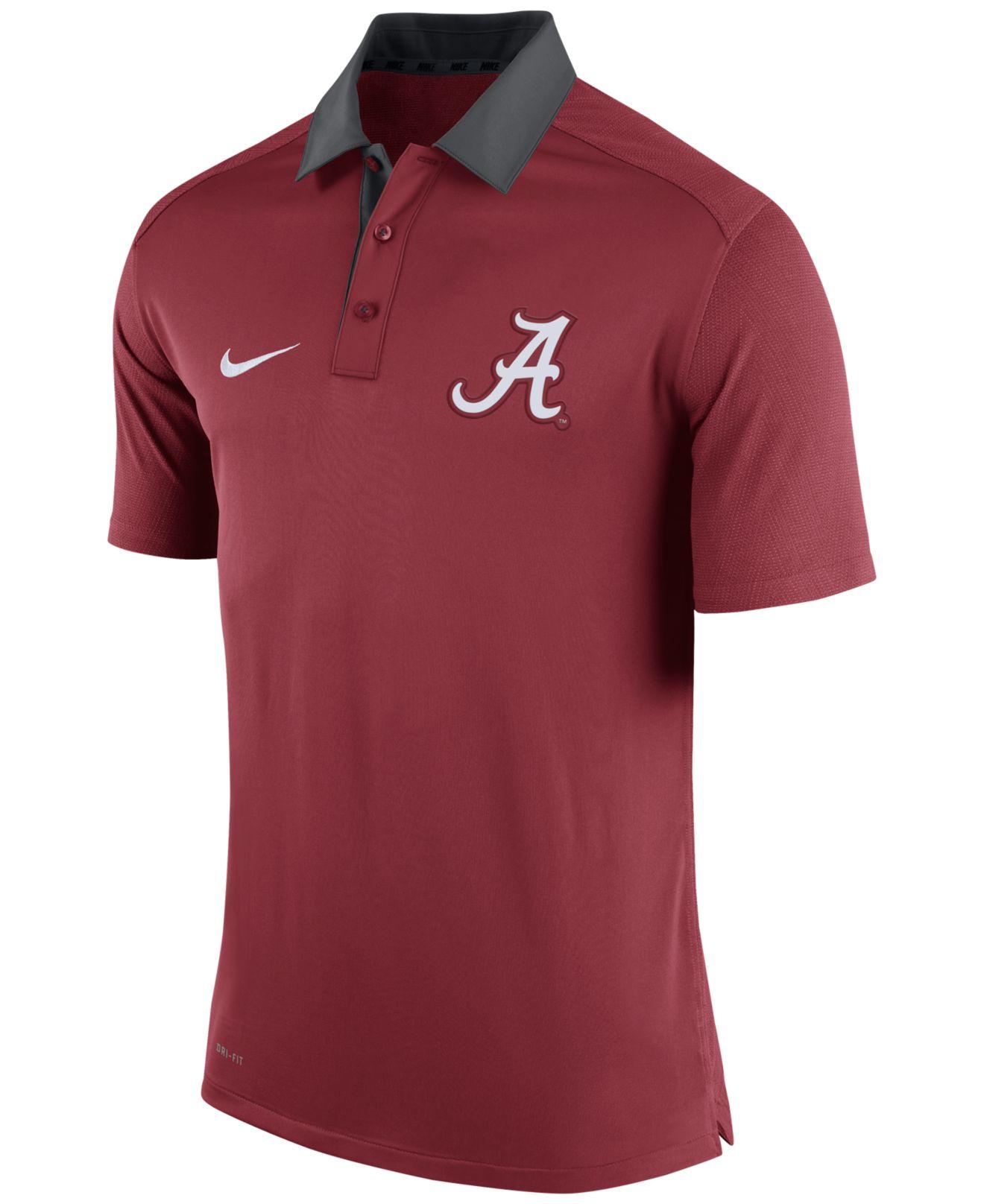 Lyst nike men 39 s alabama crimson tide elite coaches polo for Alabama crimson tide polo shirts