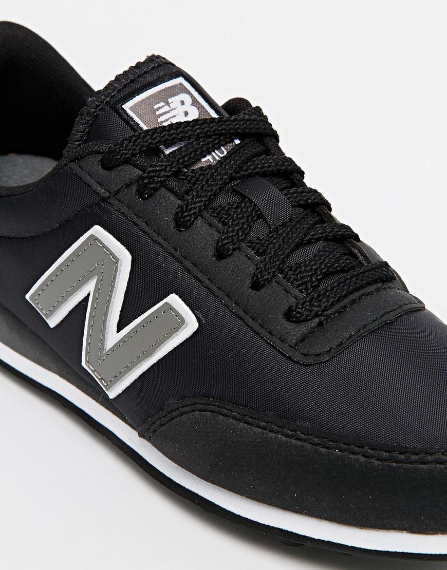 lyst new balance 410 black trainers in black. Black Bedroom Furniture Sets. Home Design Ideas