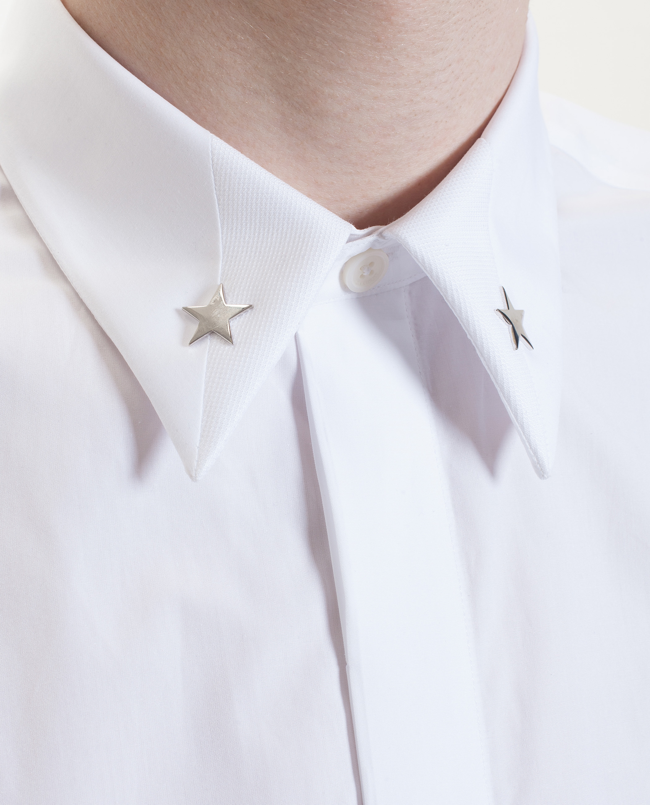 Lyst givenchy star embellished shirt in white for men for Givenchy 5 star shirt