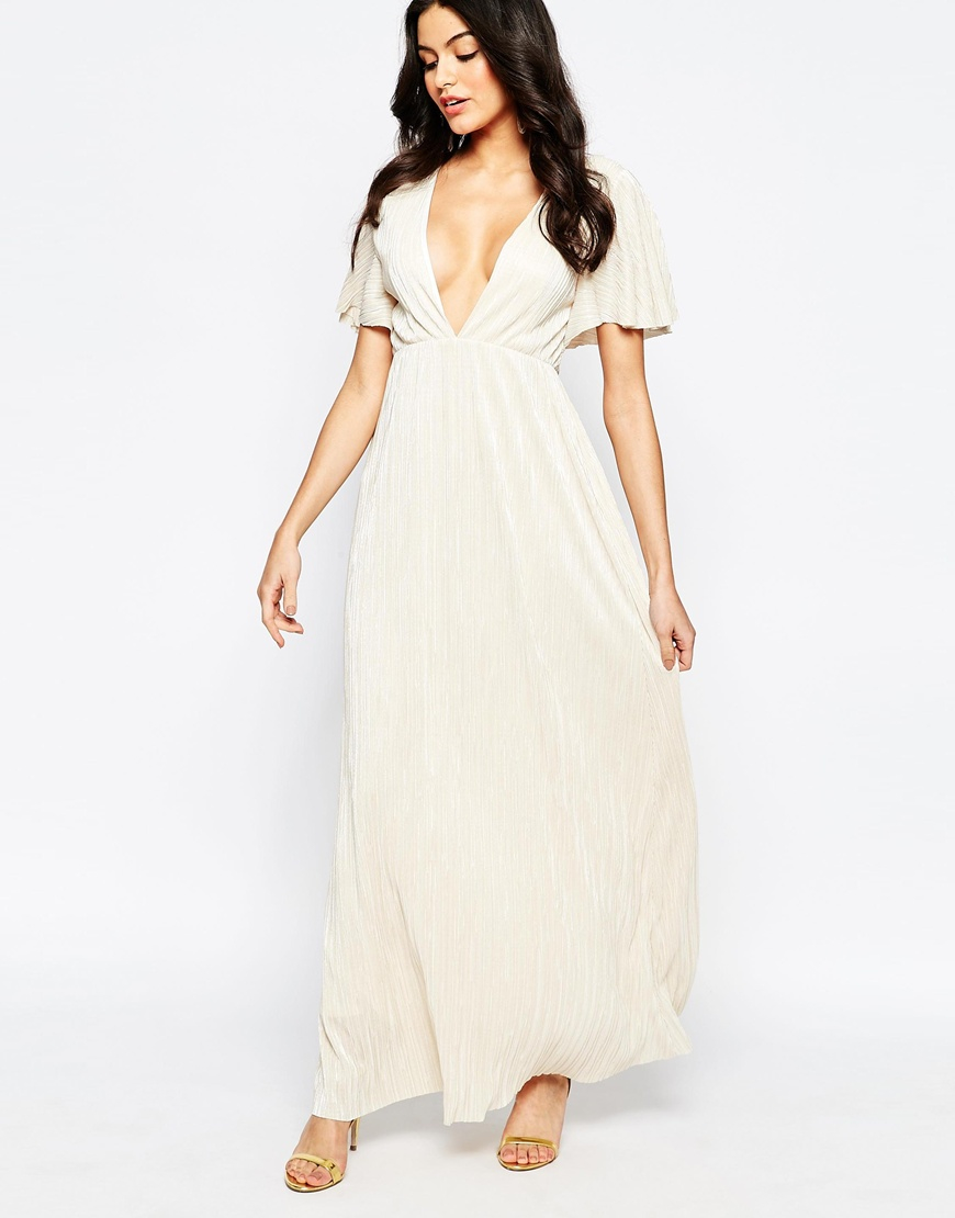 dad526d954d Oh My Love H My Love Maxi Dress With Kimono Sleeves in Natural - Lyst