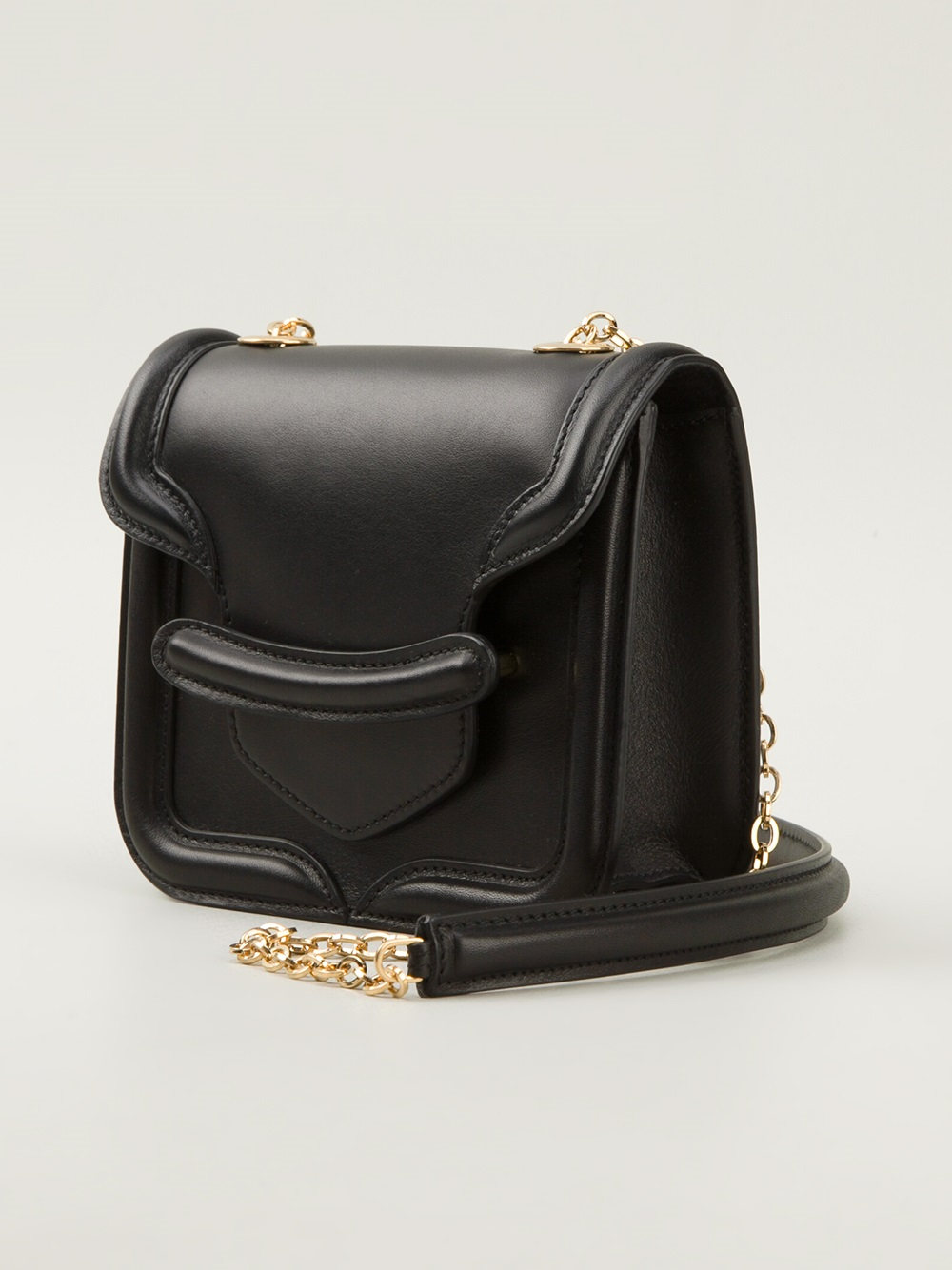 Lyst - Alexander Mcqueen Mini Heroine Bag in Black