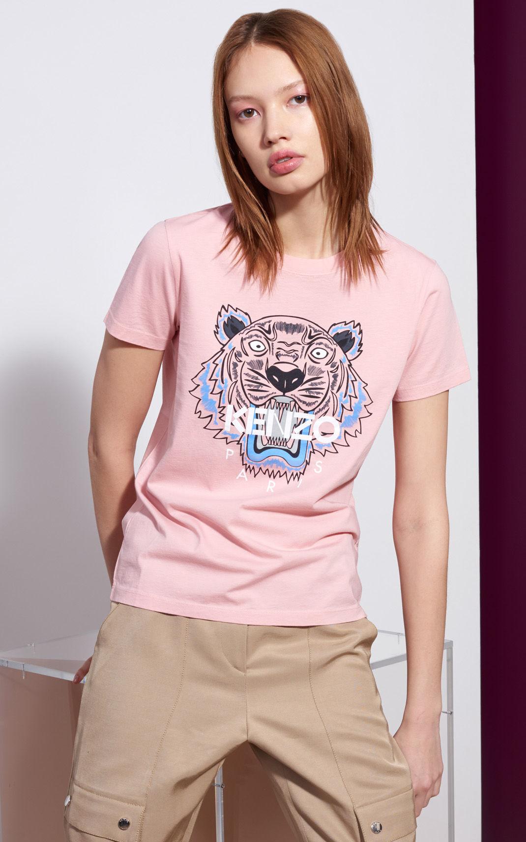 Kenzo Tiger Tshirt in Pink - Lyst 32c3c4eb191
