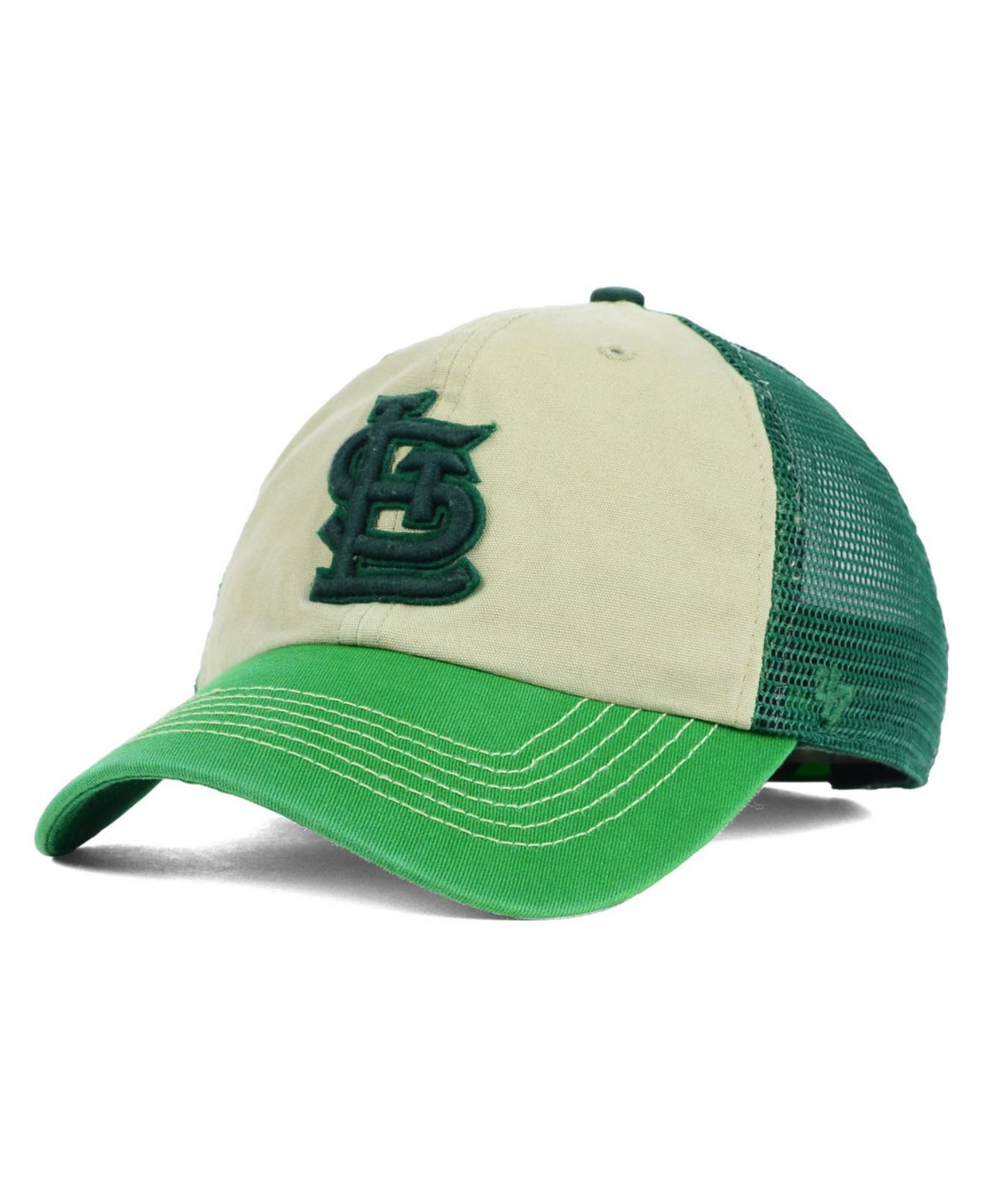 best website 018c6 3e895 ... cheapest lyst 47 brand st. louis cardinals mcnally clean up cap in  green 079f8 15acc