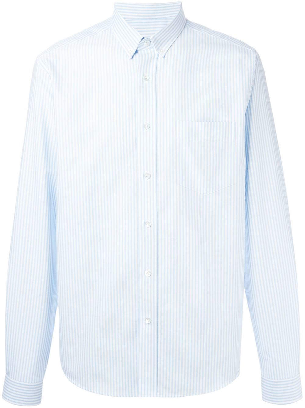 Ami Classic Button Down Shirt In Blue For Men Lyst