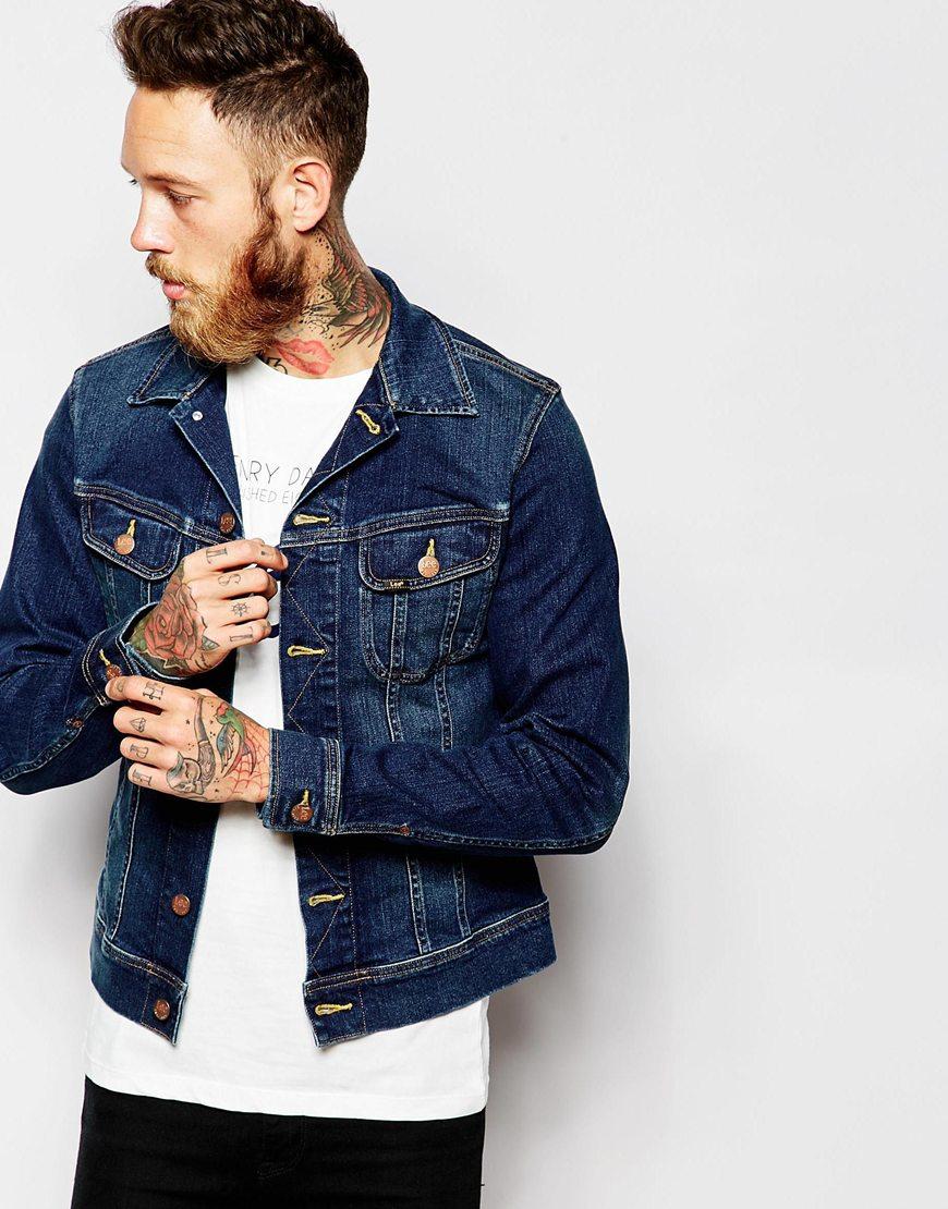 Lee Jeans Denim Jacket Rider Slim Fit Stretch Favourite