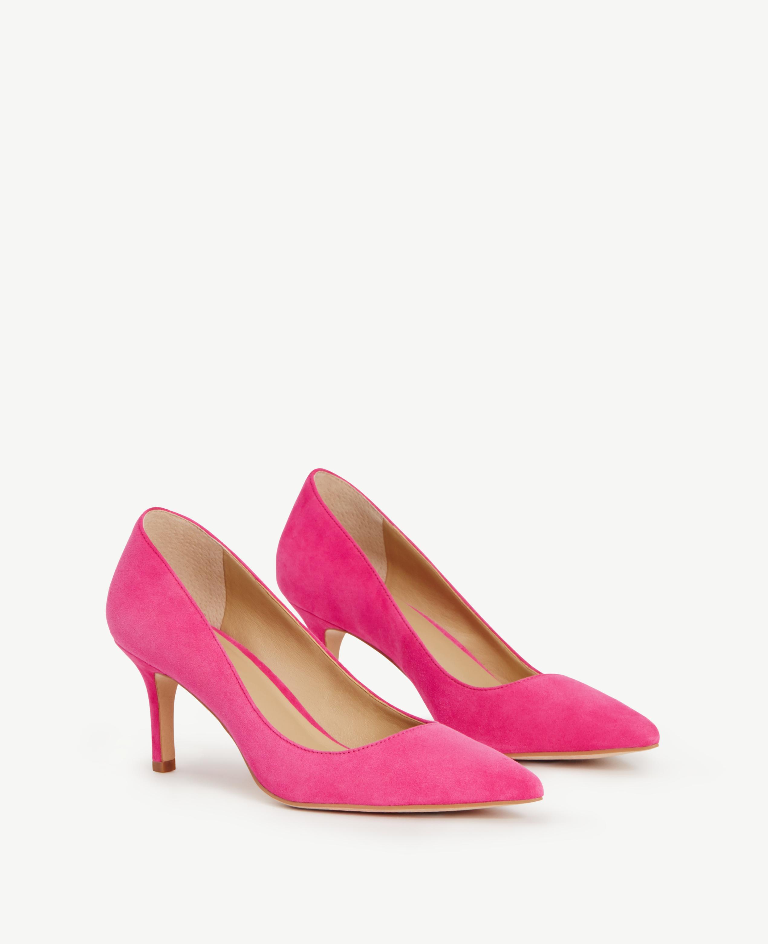 Ann taylor Eryn Suede Kitten Heels in Pink | Lyst