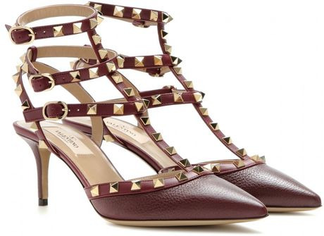 d4e2c3f6dc3 Red Valentino Kitten Heels. Lyst - Valentino Rockstud Patent Leather ...