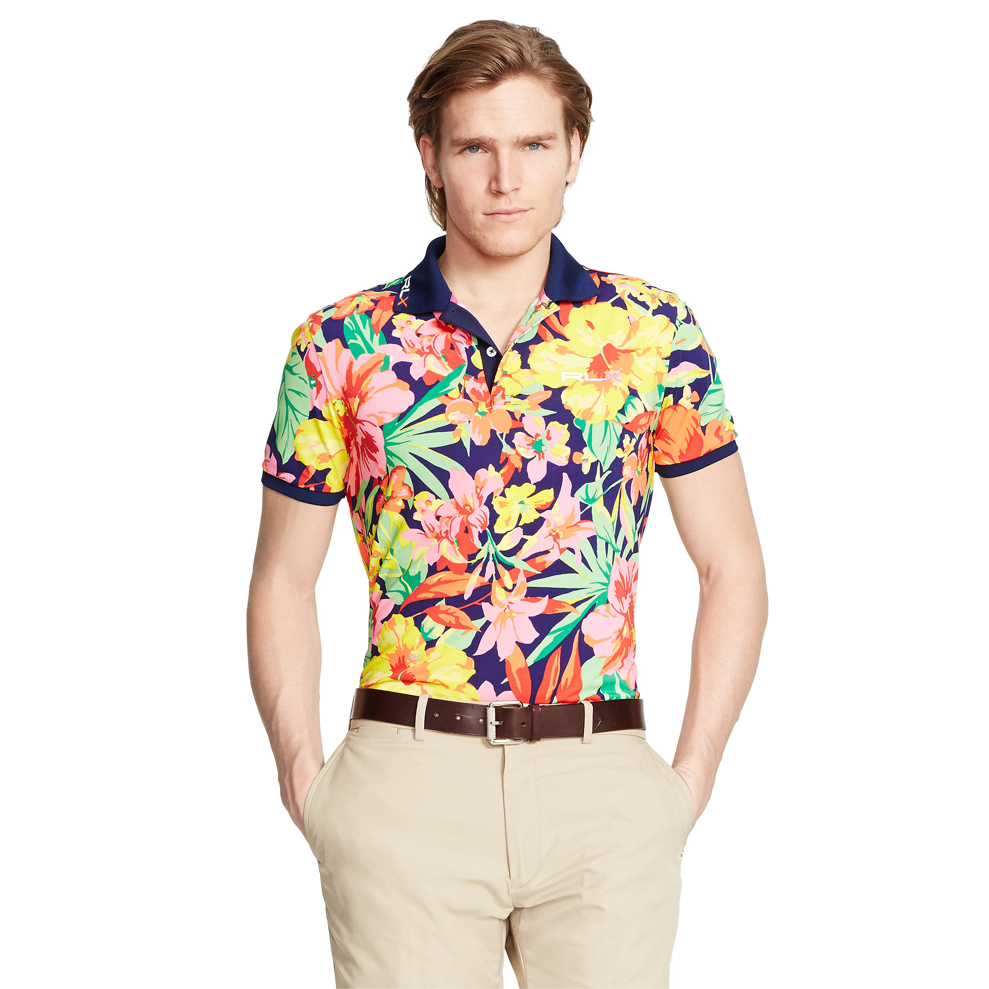3f144167825f1 Lyst - Ralph Lauren Pro-Fit Floral Polo Shirt for Men