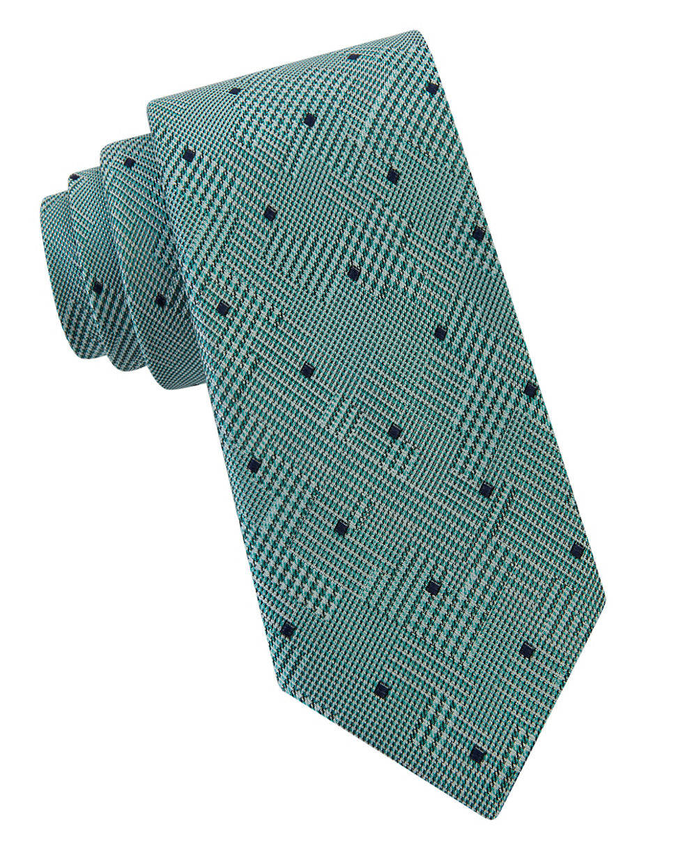 william rast glen plaid dotted tie in blue for lyst