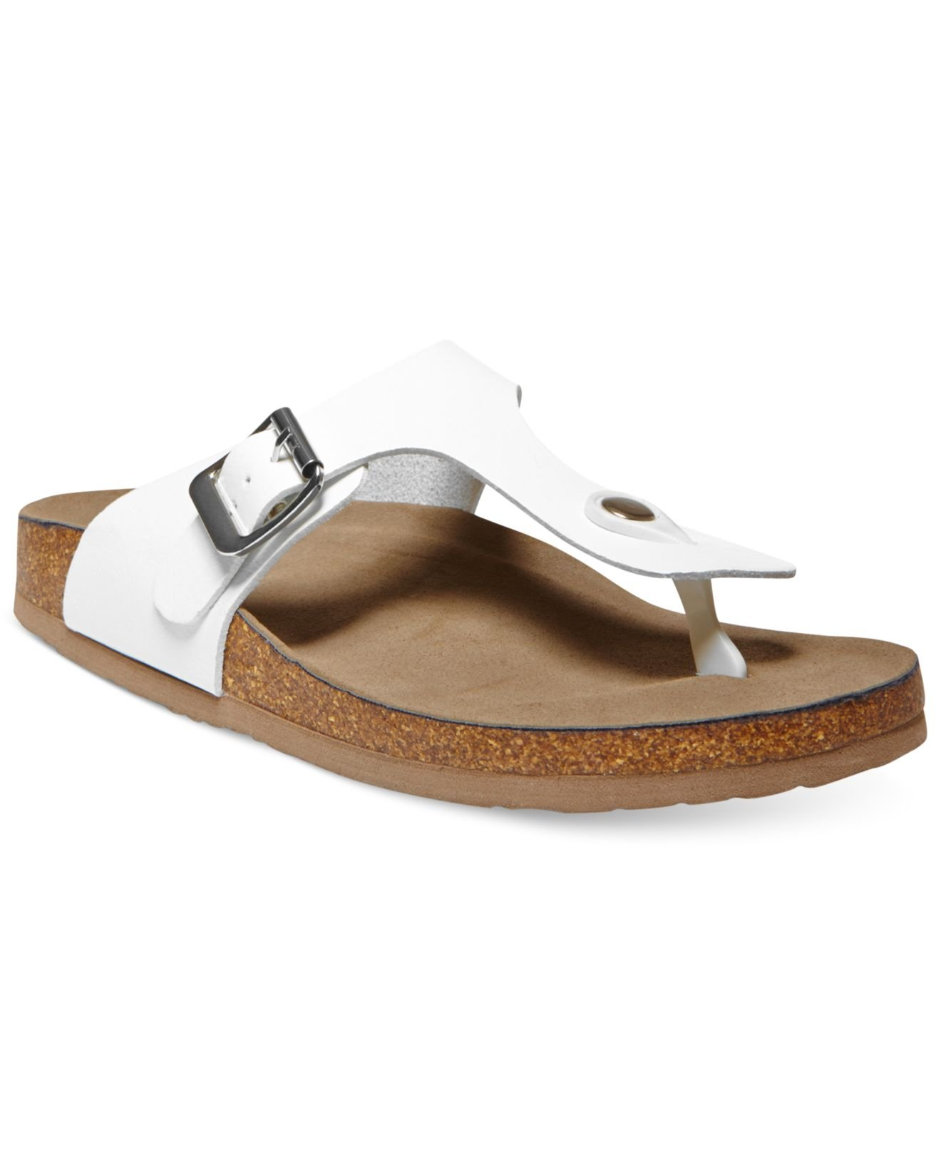 dc7d89d39f9a Lyst - Madden Girl Boise Footbed Thong Sandals in White