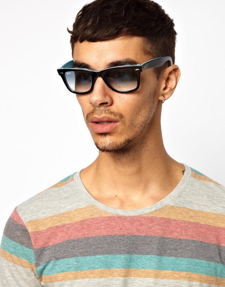 all black ray bans wayfarers  Ray-ban 2 Tone Wayfarer Sunglasses in Black for Men