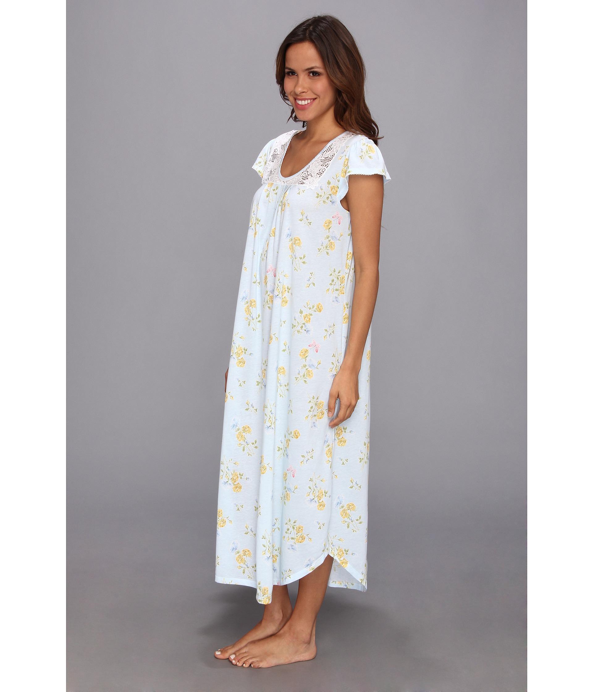 Lyst - Carole Hochman Garden Reverie Long Nightgown