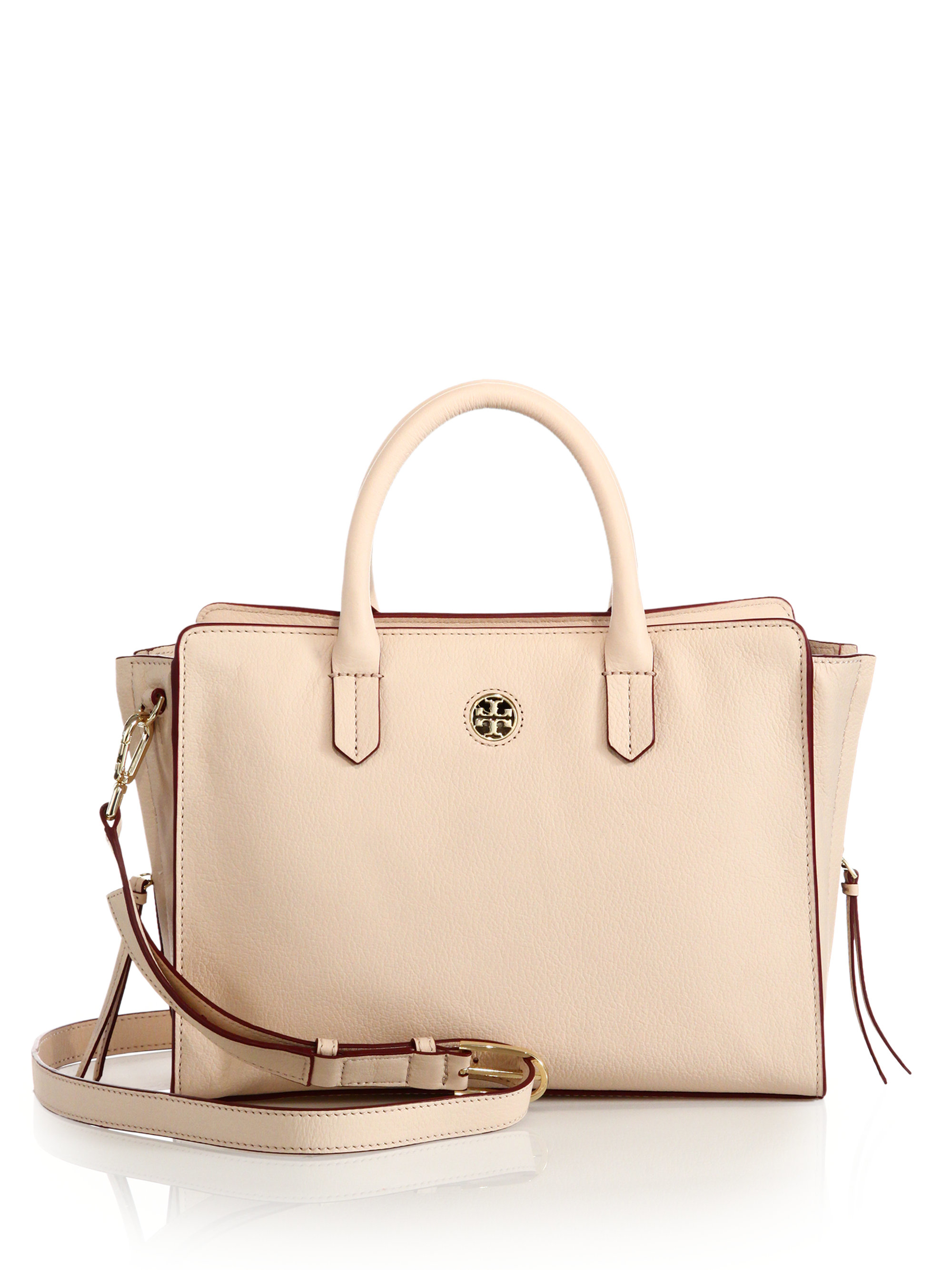 25b3c5119a Tory Burch Brody Small Leather Tote in Natural - Lyst