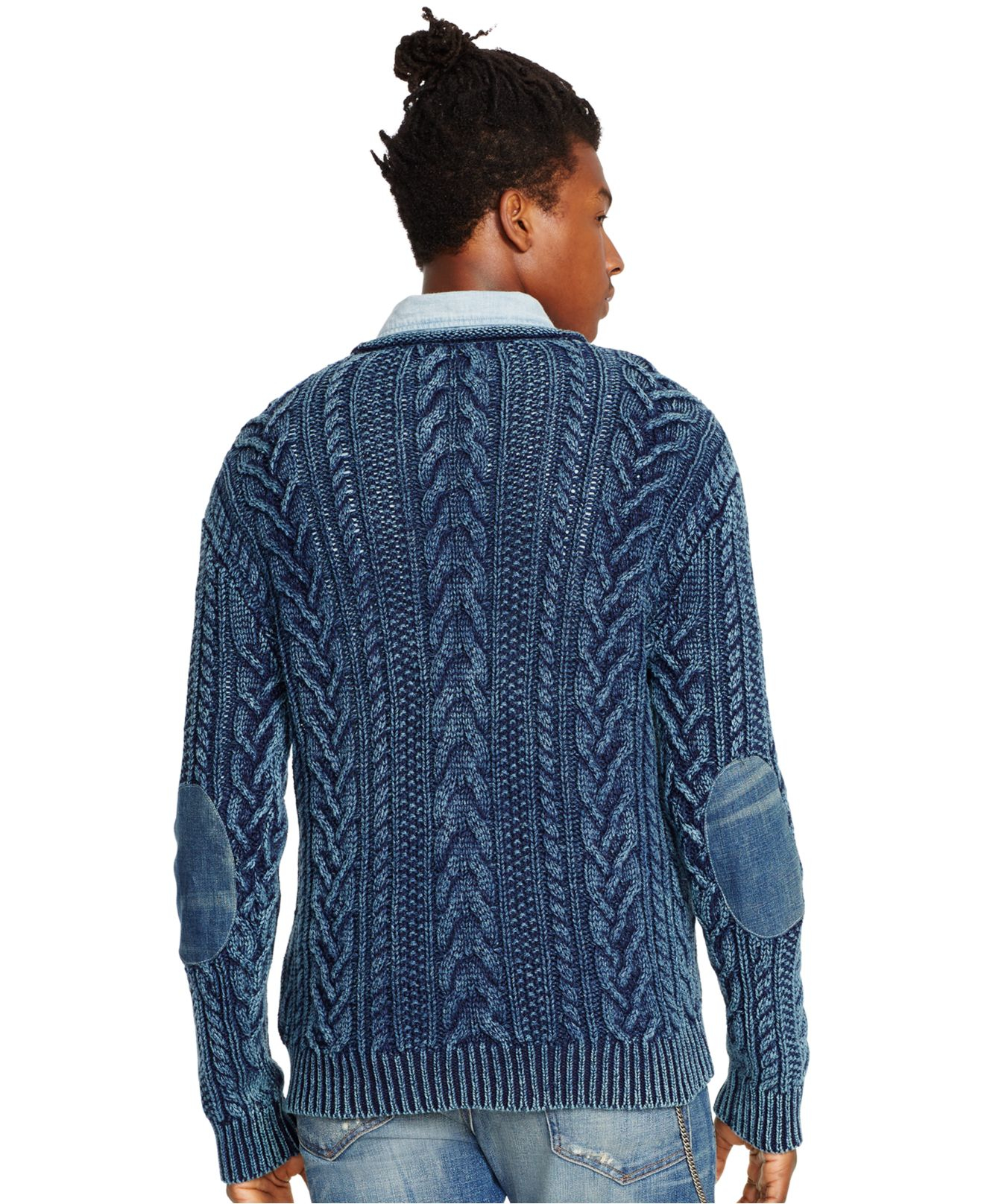 Denim & supply ralph lauren Men's Cable-knit Cotton Sweater in ...
