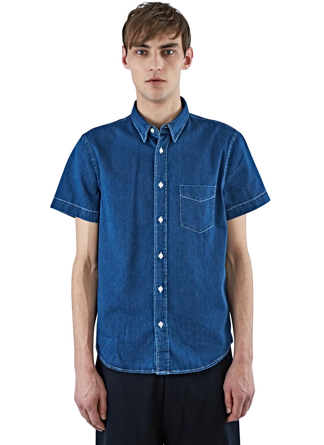 98304c1c03 Lyst - Acne Studios Men s Isherwood Short Sleeved Denim Shirt In ...