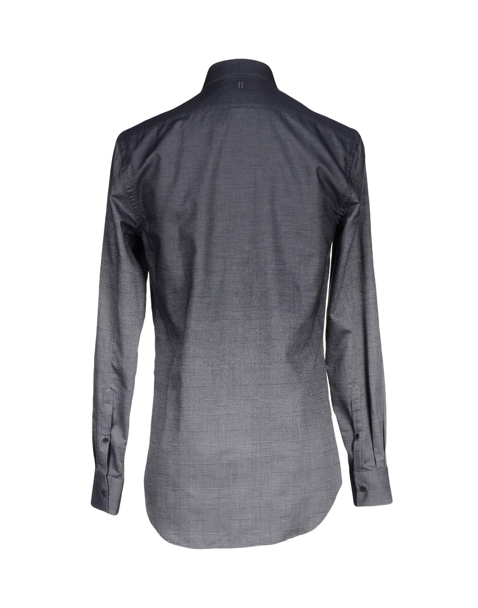 Neil barrett shirt in gray for men lyst for Neil barrett tuxedo shirt