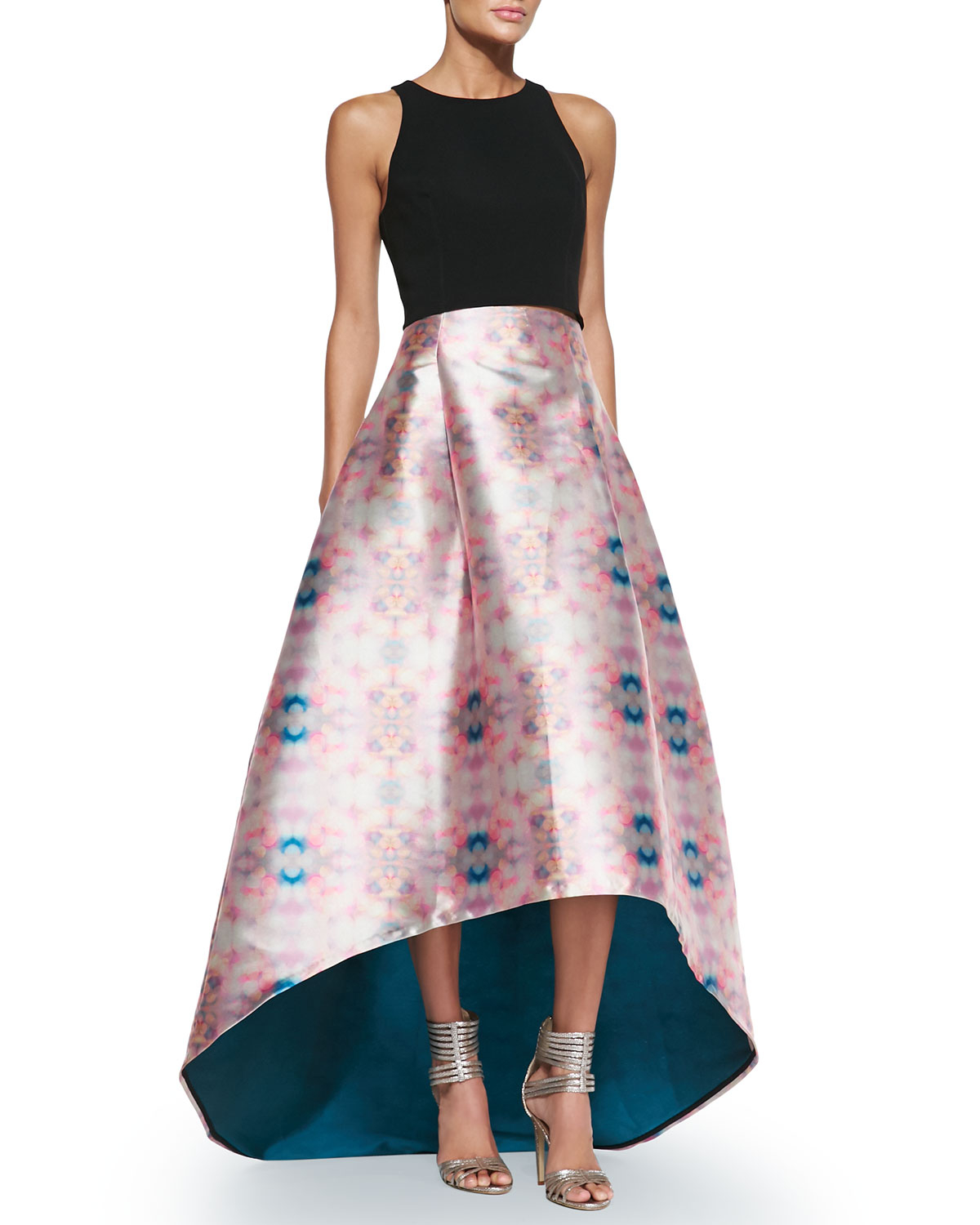 Noir sachin & babi Avalon Printed High-low Skirt in Blue | Lyst
