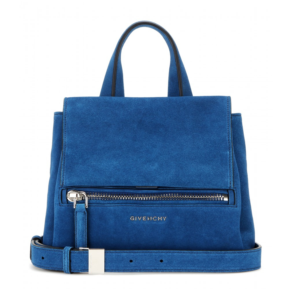 3055bf4a42db Lyst - Givenchy Pandora Pure Mini Suede Shoulder Bag in Blue