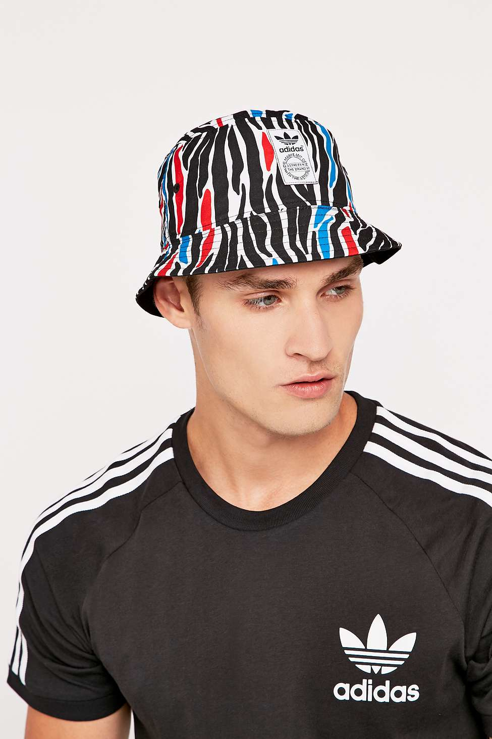 1a9b9082fa5 adidas Originals Zebra Print Bucket Hat for Men - Lyst