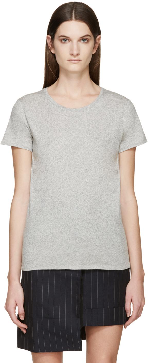Rag bone grey base t shirt in gray grey lyst for Rag and bone t shirts