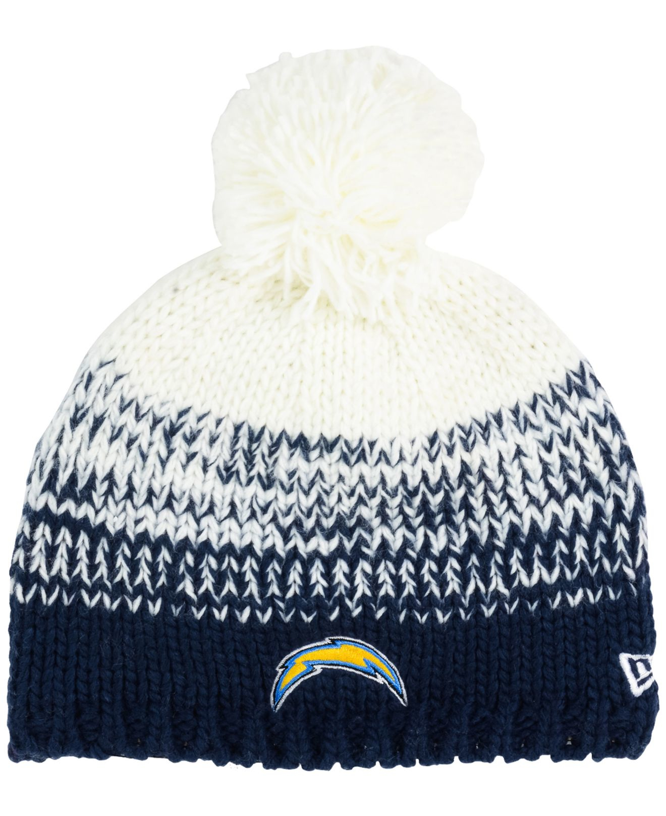 ab888b39f1d8ea Lyst - Ktz Women's San Diego Chargers Polar Dust Knit Hat in Blue