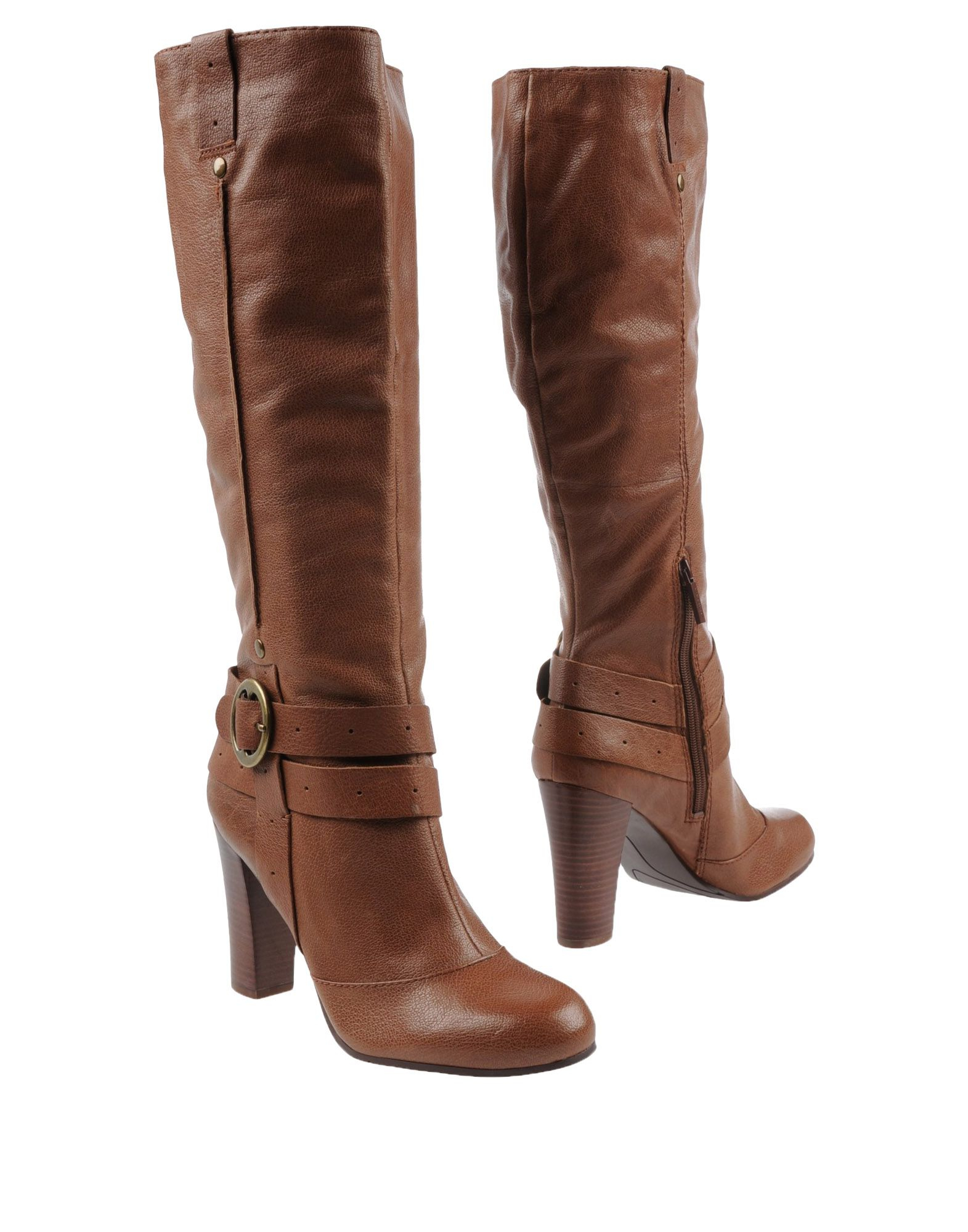 nine west knee high mid heel boots in brown lyst