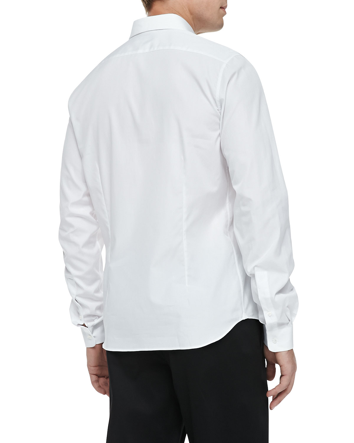 Valentino Stud Collar Button Down Shirt In White For Men