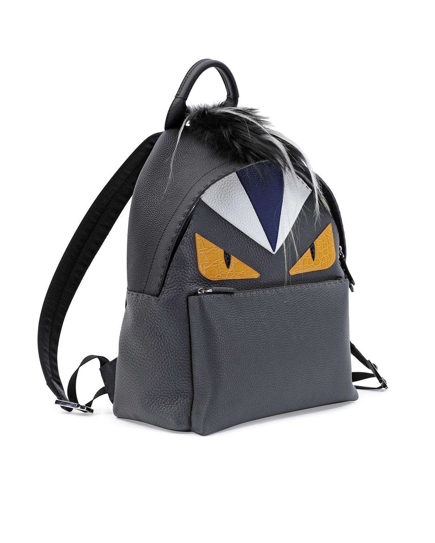 3f815796d768 Fendi Monster Backpack with Fur Crest in Black - Lyst