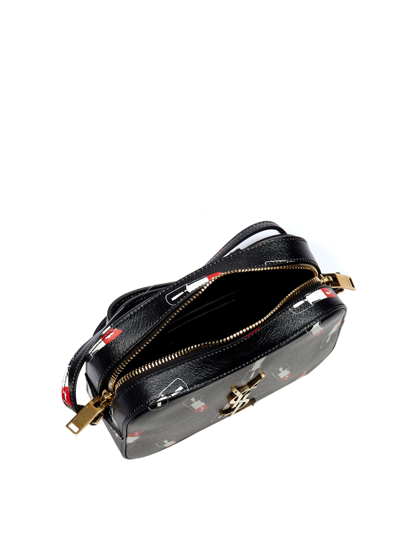 Monogram Medium Fringe Pouch Bag, Black Multi