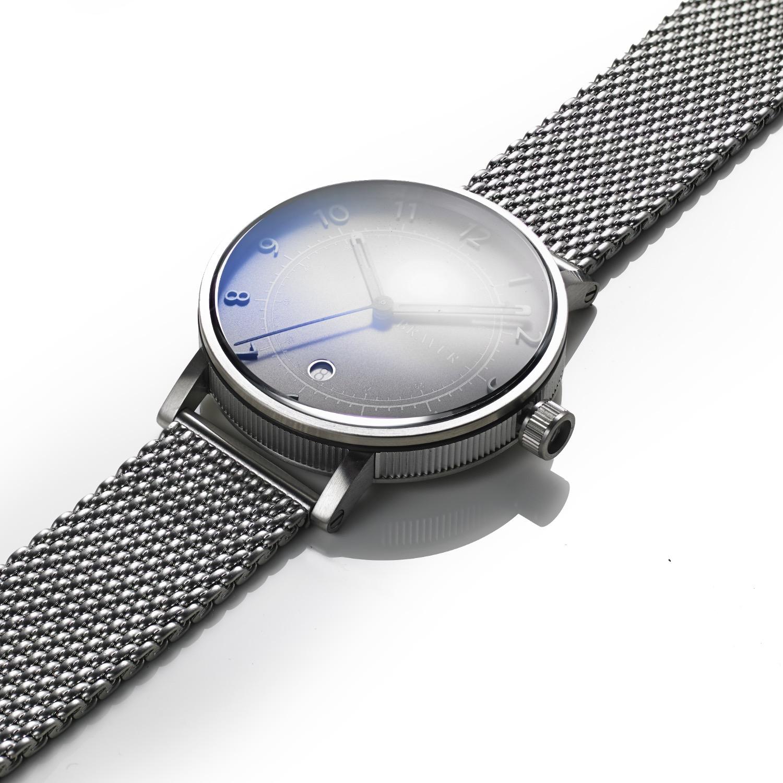 bravur watches steel case grey face milanese bracelet in silver for men lyst. Black Bedroom Furniture Sets. Home Design Ideas