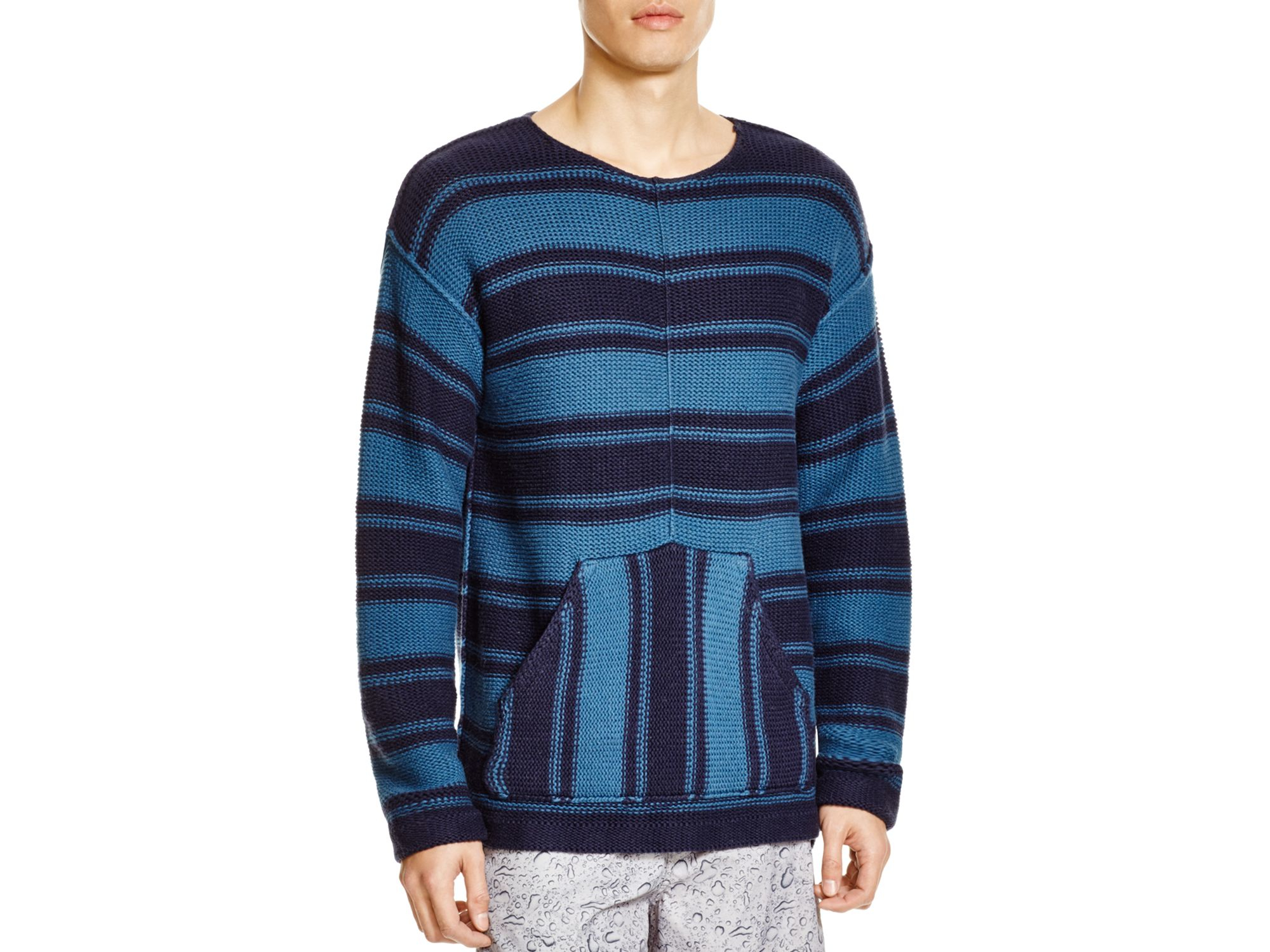Outerknown Lost Horizon Striped Sweater in Blue for Men | Lyst