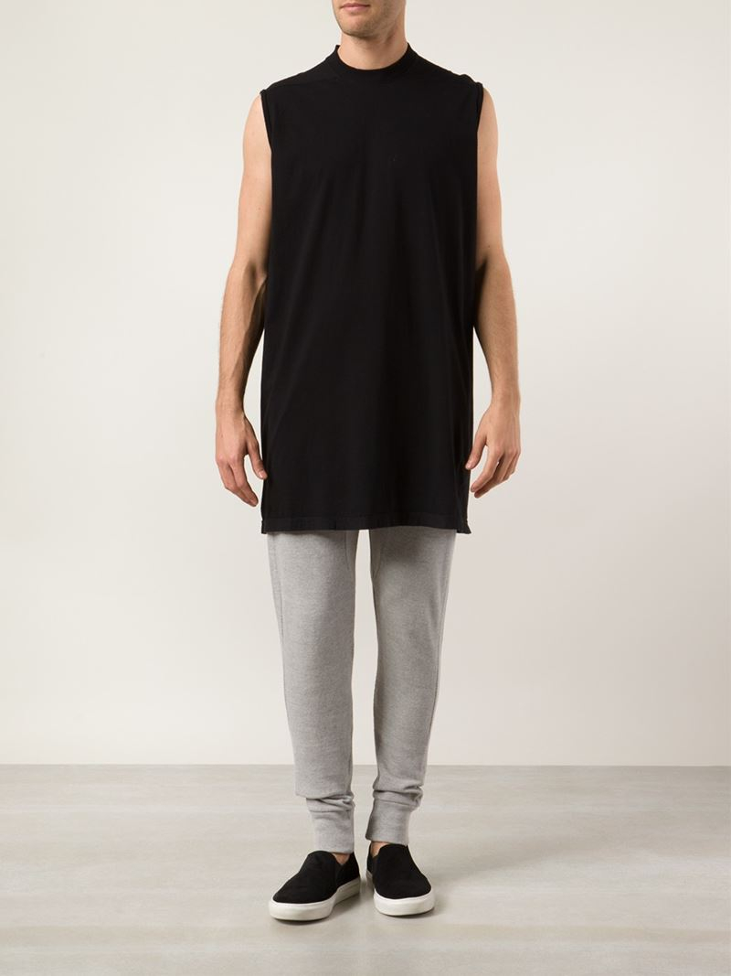 f42cb94a1fc79 Lyst - DRKSHDW by Rick Owens Oversized Cotton Tank Top in Black for Men